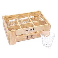 Набор 6 пьяных рюмок оригинальных граненых BST 520002 20х16х70 см. Сабантуй, фото 1