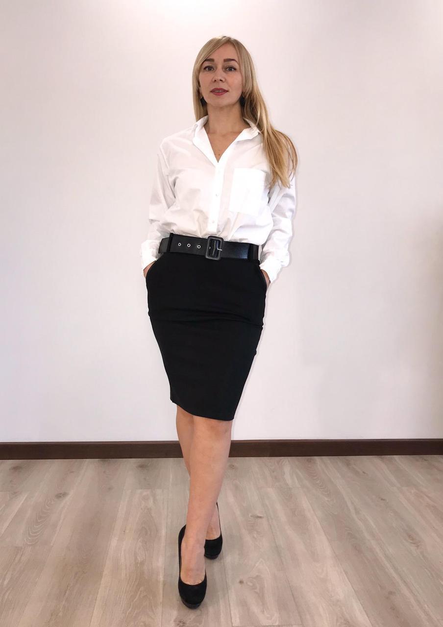 """Женская юбка """"Фрида"""" (черный) 44-54р"""