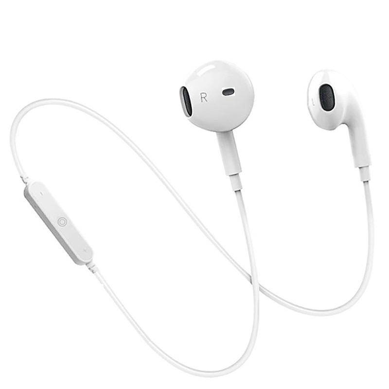 Беспроводные наушники Sport Bluetooth S6 белые