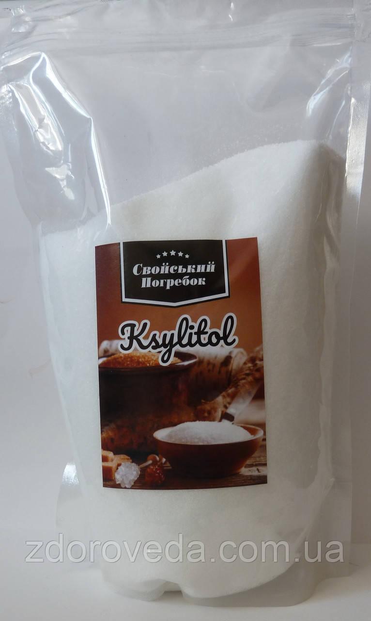Ксилит (березовый сахар), 1 кг, Финляндия, натуральный сахарозаменитель