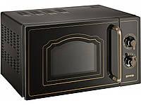 Микроволновая печь Gorenje MO 4250 CLB (20л, 700/800Вт, гриль, механика, эмаль)