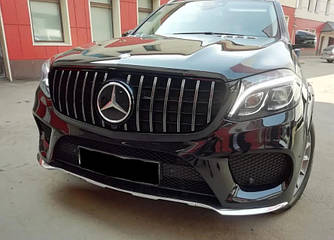 Решетка радиатора Mercedes GLS X166 (16-19) тюнинг стиль AMG GT (хром)