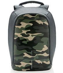 "Рюкзак для ноутбука XD Design Bobby Compact 14"" проти крадіжок Камуфляж Зелений (P705.657)"