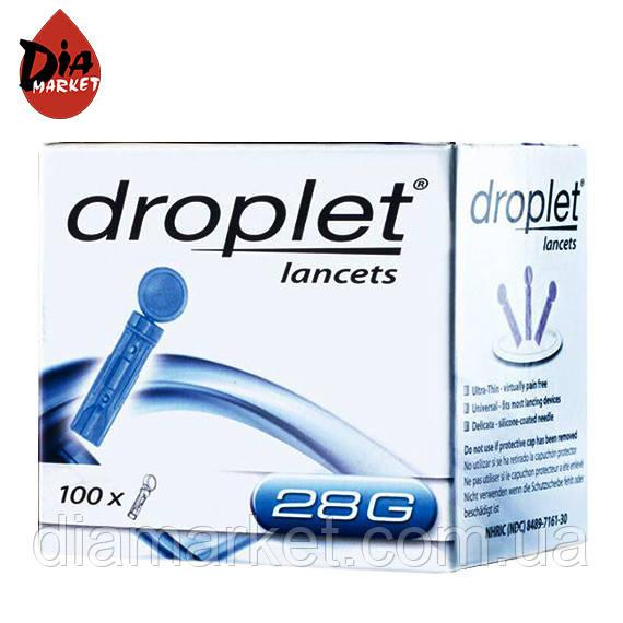 Ланцеты «Дроплет» 28G (универсальный) 100шт