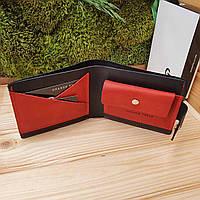 Мужской кожаный кошелек ручной работы Grande Pelle (GP024)
