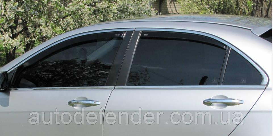 Дефлекторы окон (вставные!) ветровики Honda Accord 2002-2008 4D 4шт. Sedan euro, HEKO, 17176