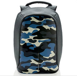 "Рюкзак для ноутбука XD Design Bobby Compact 14"" проти крадіжок Камуфляж Синій (P705.655)"