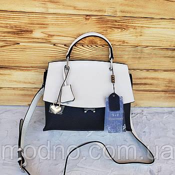 Женская кожаная сумка с клапаном через плечо Polina & Eiterou