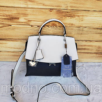 Жіноча шкіряна сумка з клапаном через плече Polina & Eiterou