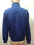 Мужская кофта на молнии / Турция / синий, фото 8