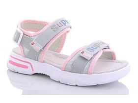 Босоножки детские для девочки серо-розовые размер 32-37 Киев