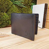 Мужской кожаный кошелек ручной работы Grande Pelle (GP026)
