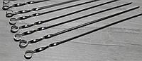 Шампур плоский 600*10*2 мм нержавіюча сталь