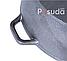 Чугунная жаровня с алюминиевой крышкой с 2 ручками Биол 32 см 1732ал, фото 8