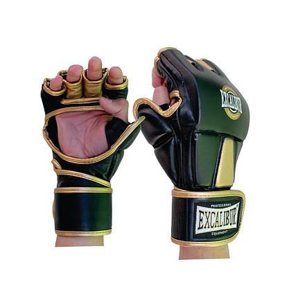Перчатки MMA Excalibur 665 золотой/черный, фото 2