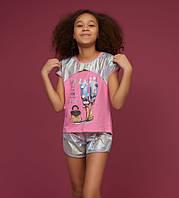 Стильный летний костюм для девочек 5-13 лет Турция Little star