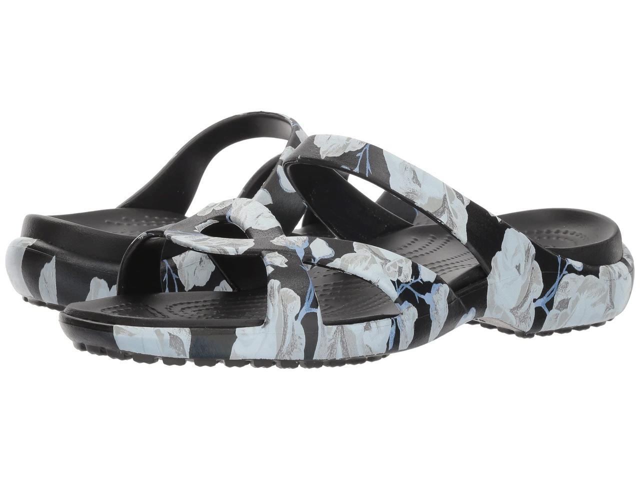 Шлепанцы женские Crocs art701125 (Черный/белый, размер 42-43)