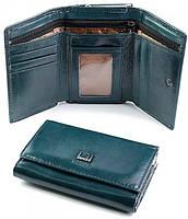 Красивый кожаный кошелек в коробке. Женский бумажник поцелуйчик . Женское кожаное портмоне. СК20-2