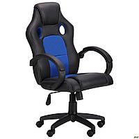 Кресло геймерское AMF Chase blue чёрный + синяя сетка, фото 1