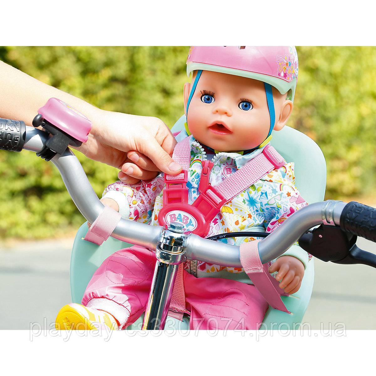 Велокресло и шлем для куклы Бэби борн комплект Baby Born Zapf Creation