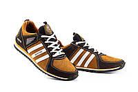 Мужские кроссовки кожаные весна/осень коричневые-рыжие Splinter V2 3014 перф, фото 1
