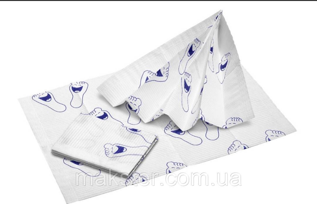 Стоматологические салфетки нагрудники с детским  рисунком Akzenta(500 шт\ уп)