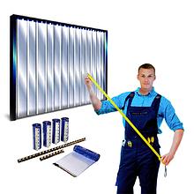 Изготовление термозавес, Монтаж термошторы