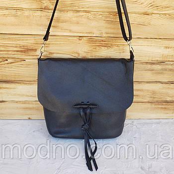 Женская стильная кожаная сумка через и на плечо Galanty