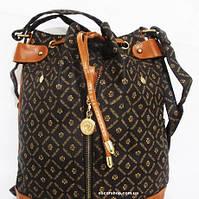 Большой женский рюкзак. Недорогая женская сумка. Небольшой изъян. Сумка Портфель на шнуре. ДР11