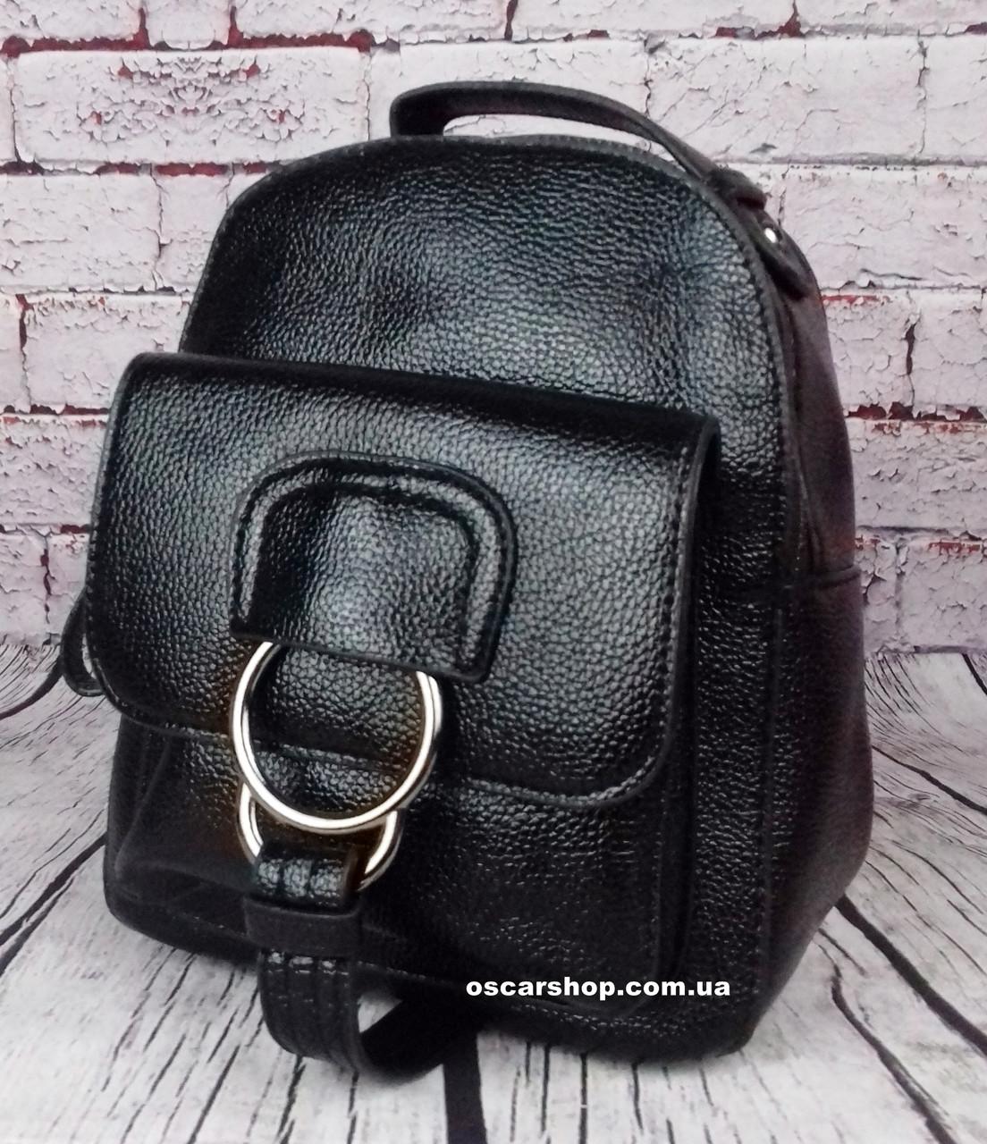 Черный мини рюкзак. Размер (см.) 21х18. Модный женский рюкзак. Небольшая сумка портфель Alex Rai. ЖС10-1