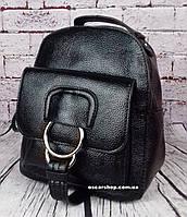 Черный мини рюкзак. Размер (см.) 21х18. Модный женский рюкзак. Небольшая сумка портфель Alex Rai. ЖС10-1, фото 1