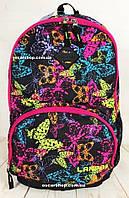 Розовый рюкзак  с бабочками. Женская сумка. Школьный портфель для девочек. Яркий детский рюкзак. СЛ21