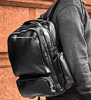 Кожаный рюкзак. Мужская сумка под ноутбук. Кожаный портфель. С15