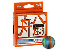 Шнур YGK Veragass Fune X8 - 100m connect #0.8/6.7kg 10m x 5 colors