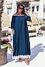 Джинсовые длинные платья оптом, женские платья больших размеров XXL оптом, фото 4