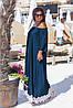 Джинсовые длинные платья оптом, женские платья больших размеров XXL оптом, фото 5