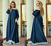Джинсовые длинные платья оптом, женские платья больших размеров XXL оптом, фото 9