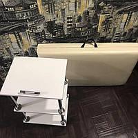 Комплект кушетка косметологическая «Бюджет 2» + тележка «Эконом» (набір косметологічний візок + кушетка)