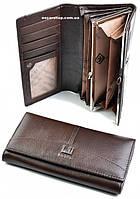 100% Кожаный женский кошелек Хорс. Выбор. Женский клатч оригинал. Женский бумажник кожа. СК7-1