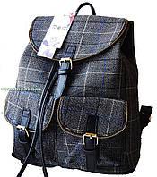 Женский рюкзак в клетку шотландка. Выбор! Женская сумка портфель девушкам. СР300