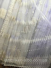 Турецкая тюль фатин кремового цвета 8AR005 остаток 4,8м