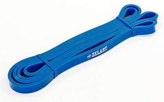 Еспандер стрічковий Zelart 2000х13х4,5 XXS синій, гумка для фітнесу