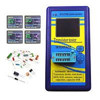 Транзистор тестер универсальный для проверки транзисторов, конденсаторов, радиодеталей ESR, LCR тестер M328