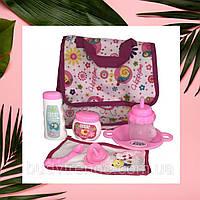 Набор аксессуаров для пупса розового цвета (игрушки для девочек) M 3836-12 для пупса