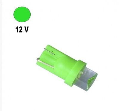 Автолампа Terra T10 / W5W, цоколь W2.1x9.5d, LED вогнутая, зеленый, 12V, 0,24W
