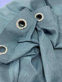 Готові щільні штори на вікна в спальню,залу льон рогожка НА ЛЮВЕРСАХ(тканинні підхоплення + 50 грн.)