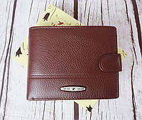 ВЕЛИКИЙ чоловічий шкіряний гаманець. Портмоне чоловіче. Натуральна шкіра. Коричневий. ЕК35-1, фото 1