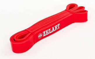 Еспандер стрічковий Zelart 2000х29х4,5 S червоний, гумка для фітнесу