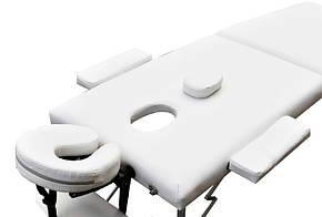 Складаний масажний стіл ZENET ZET-1044 CREAM розмір L ( 195*70*61), фото 2