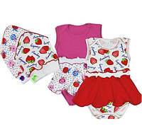 Боди - платье + косынка для девочки 68 74 80 размеры